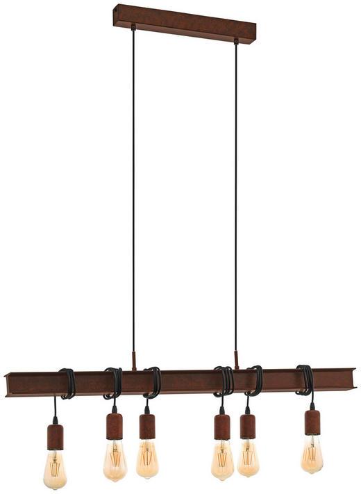 HÄNGELEUCHTE - Braun, ROMANTIK / LANDHAUS, Metall (100,5/7/110cm)