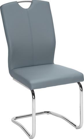 SVIKTSTOL - kromfärg/blå, Design, metall/textil (58,5/99,5/46cm) - Hom`in