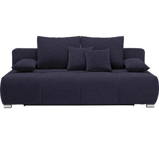 SCHLAFSOFA in Textil Dunkelblau - Chromfarben/Dunkelblau, Design, Kunststoff/Textil (212/72-90/108cm) - Hom`in