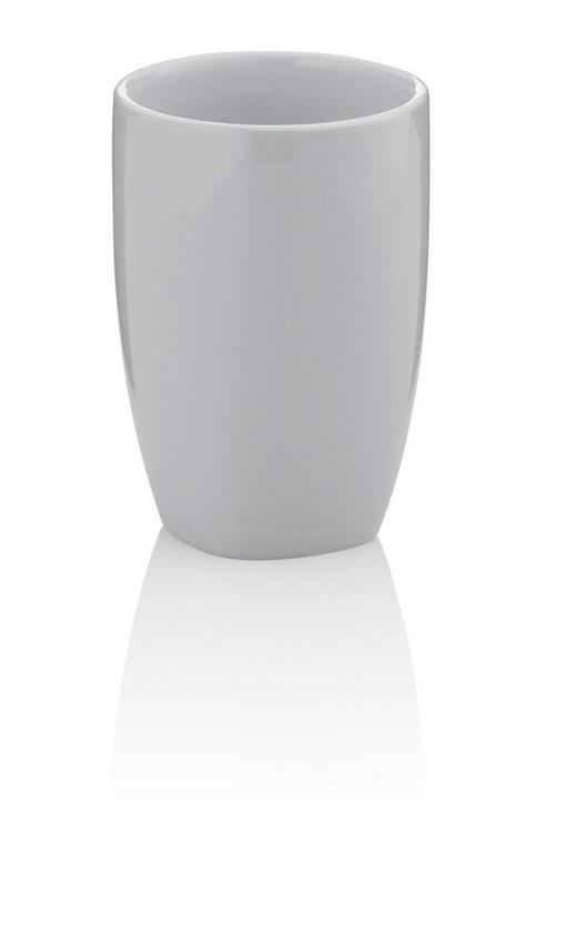ZAHNPUTZBECHER - Grau, KONVENTIONELL, Keramik (7,5/10,5cm)