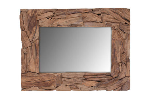 SPIEGEL - Teakfarben, Design, Glas/Holz (90/120/5cm)