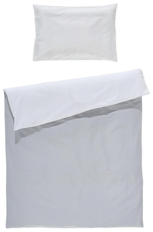 BABYBETTWÄSCHE - Weiß/Grau, Basics, Textil (100/135cm) - My Baby Lou