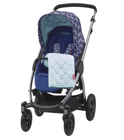 Stella  Kinderwagen  Blau, Weiß - Blau/Silberfarben, Kunststoff/Textil (55/107,5/93,5cm) - Maxi-Cosi