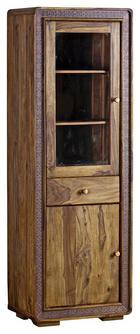 VITRÍNA, částečně masivní, sheesham, barvy sheesham - měděné barvy/barvy sheesham, Lifestyle, kov/dřevo (60/175/40cm) - Landscape