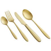BESTECKSET  16-teilig  Edelstahl   - Goldfarben, Trend, Metall