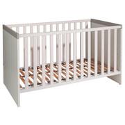 Gitterbett Faro - Weiß/Grau, Design, Holz/Holzwerkstoff (143,4/76,6/82,3cm) - Paidi