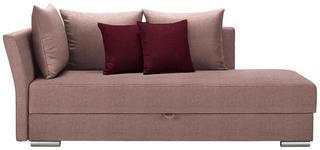 LIEGE in Textil Dunkelrot, Rosa - Chromfarben/Rosa, Design, Kunststoff/Textil (220/93/100cm) - Xora