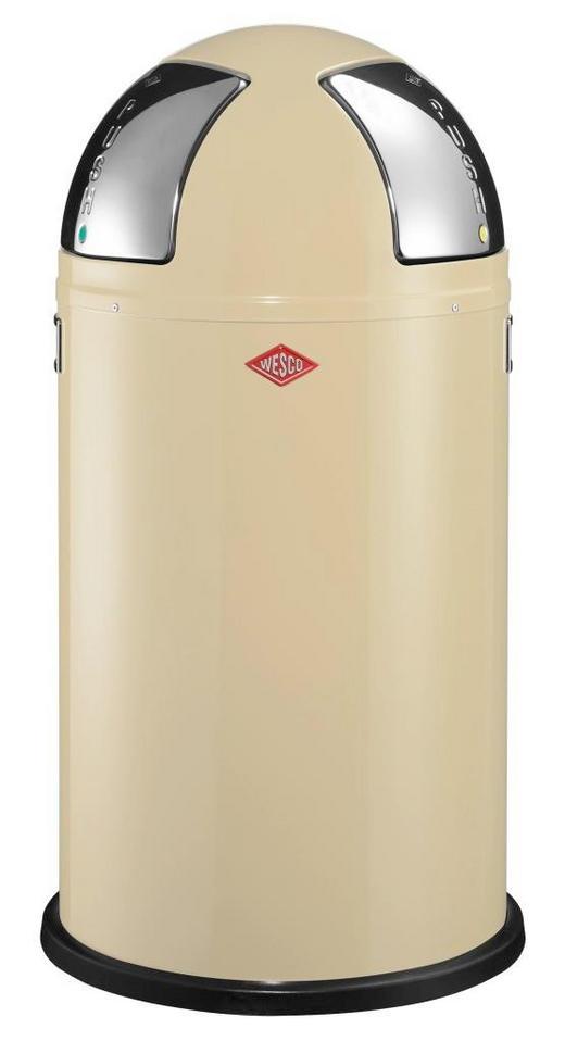 ABFALLSAMMLER PUSH TWO 2X25 L - Edelstahlfarben/Creme, Kunststoff/Metall (40/75,5cm) - Wesco