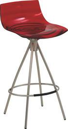 TRESENSTUHL Rot - Rot, Design, Kunststoff/Metall (41,5/84,5/42,5cm)