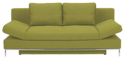 SCHLAFSOFA Flachgewebe Grün - Chromfarben/Grün, Design, Textil/Metall (203/83/90cm) - NOVEL