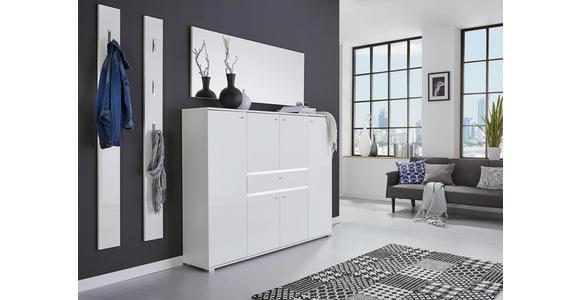 SPIEGEL 145/58/3 cm - Weiß, Design, Glas/Holzwerkstoff (145/58/3cm) - Voleo