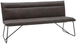 SITZBANK in Textil Anthrazit, Schwarz - Anthrazit/Schwarz, Design, Textil/Metall (180cm) - Valnatura