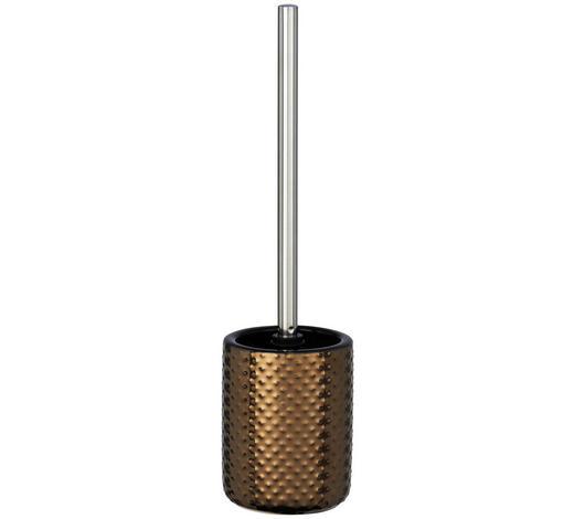 WC-BÜRSTENGARNITUR in Metall - Chromfarben/Kupferfarben, Basics, Keramik/Kunststoff (10,5/39,5cm)
