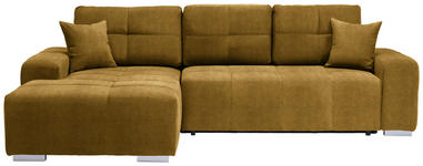 WOHNLANDSCHAFT in Textil Gelb  - Gelb/Silberfarben, MODERN, Kunststoff/Textil (194/280cm) - Carryhome