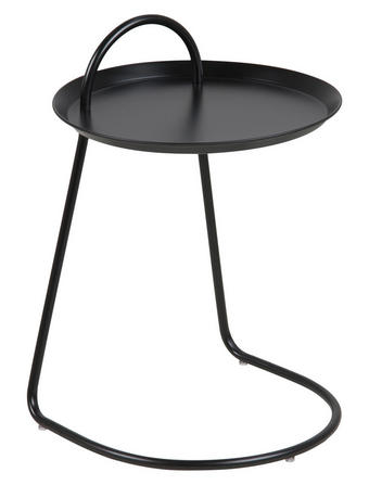 KLUBSKA MIZA, 38,5/38,5/55 cm - črna, Design, kovina (38,5/38,5/55cm) - Carryhome