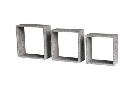 WANDREGALSET 3-teilig Grau - Grau, Design (12cm) - Carryhome