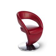STOL, kovina, usnje bordo, nerjaveče jeklo - bordo/nerjaveče jeklo, Design, kovina/usnje (62/86/61cm) - Moderano