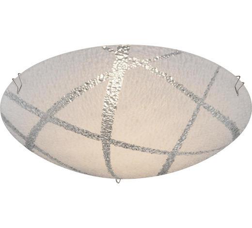 LED STROPNÍ SVÍTIDLO - bílá, Basics, kov/sklo (25/8cm) - Boxxx