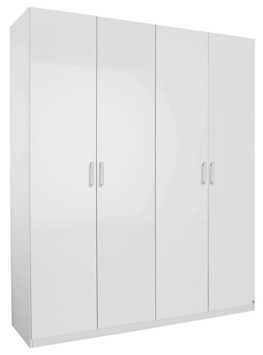 DREHTÜRENSCHRANK 4-türig Weiß - Alufarben/Weiß, Design, Holzwerkstoff/Metall (181/223/60cm) - Hom`in