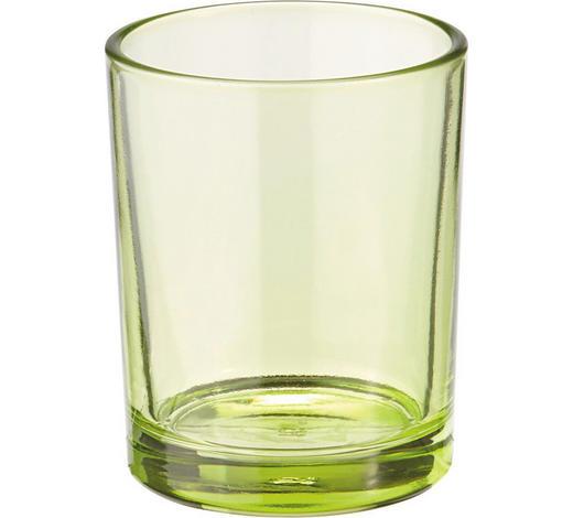 DRŽÁK NA ČAJOVOU SVÍČKU - světle zelená, Basics, sklo (5.5/6.5cm)