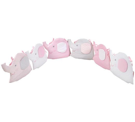NESTCHEN Grau, Weiß, Pink  - Pink/Weiß, Basics, Textil (36/48cm) - Patinio