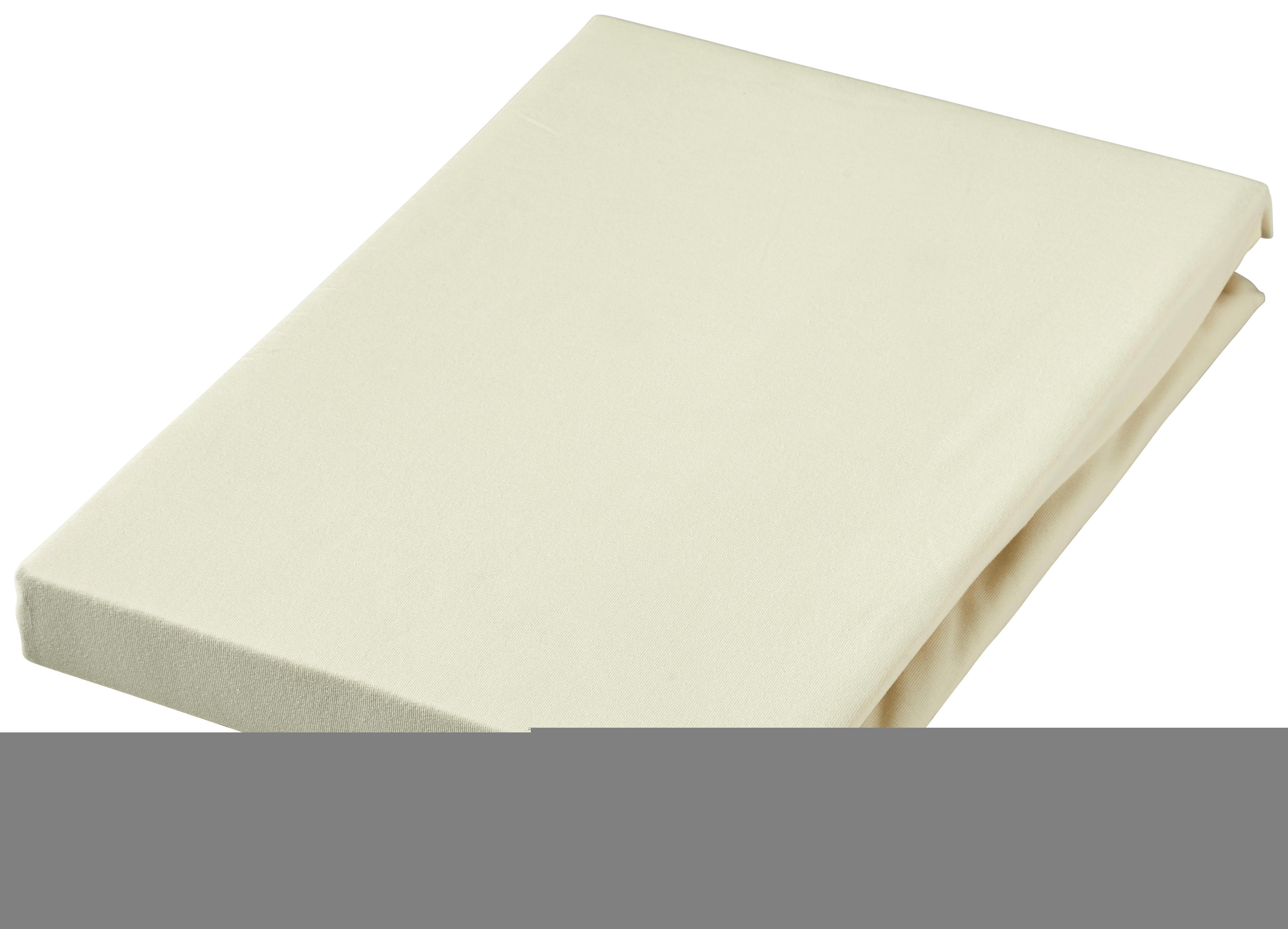 SPANNLEINTUCH 90/190 cm - Creme, Textil (90/190cm) - SCHLAFGUT