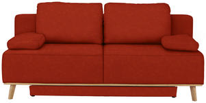 BOXSPRINGSOFA in Textil Rot  - Rot, MODERN, Holz/Textil (203/97/107cm) - Dieter Knoll