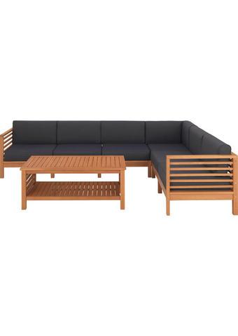 LOUNGE GARNITURA - siva/prirodne boje, Lifestyle, drvo/tekstil (268/204cm) - Ambia Garden