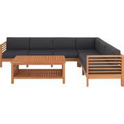 LOUNGEGARNITUR 16-teilig - Naturfarben/Grau, LIFESTYLE, Holz/Textil (268/204cm) - Ambia Garden