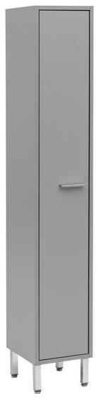 HOCHSCHRANK 25/152/30 cm - Chromfarben/Grau, Design, Holzwerkstoff/Metall (25/152/30cm) - Stylife