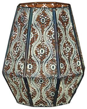 LJUSSTAKE - vit/brun, Lifestyle, metall/glas (16/21cm) - Ambia Home