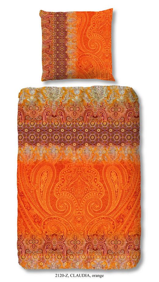 BETTWÄSCHE Satin Orange 200/200 cm - Orange, LIFESTYLE, Textil (200/200cm)
