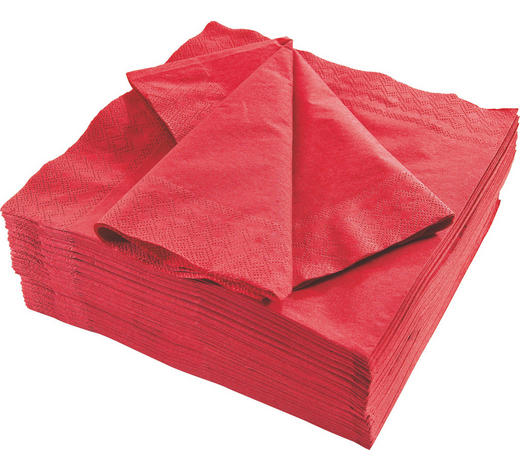 SERVIETTE - Bordeaux, Basics, Papier (40/40cm) - Xxxlpack