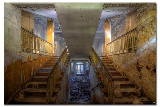 """Architektur BILD """"WHEN THE LAST LIGHT"""" - Multicolor, Basics, Holzwerkstoff/Kunststoff (300/200cm) - Wiedemann"""