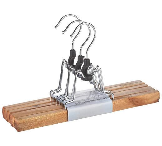 HOSENBÜGELSET 3 STK. - Naturfarben, Basics, Holz/Kunststoff (25cm) - Homeware