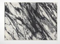 Webteppich Sissy - Creme/Hellgrau, Basics, Textil (100/160cm) - Ombra