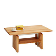 COUCHTISCH in Holz, Metall 110/65/55-69 cm - Buchefarben, Design, Holz/Metall (110/65/55-69cm) - Linea Natura