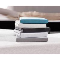SPANNBETTTUCH Jersey Weiß bügelfrei, für Wasserbetten geeignet  - Weiß, Basics, Textil (100/200cm) - Boxxx