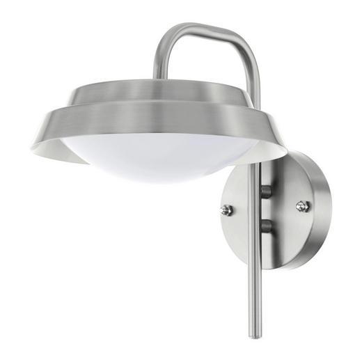 AUßENWANDLEUCHTE Weiß - Weiß, KONVENTIONELL, Kunststoff/Metall (27,5/21,5/28cm)
