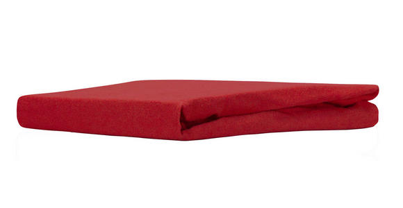 Spannleintuch Regina - Rot, MODERN, Textil (100/200cm) - Ombra