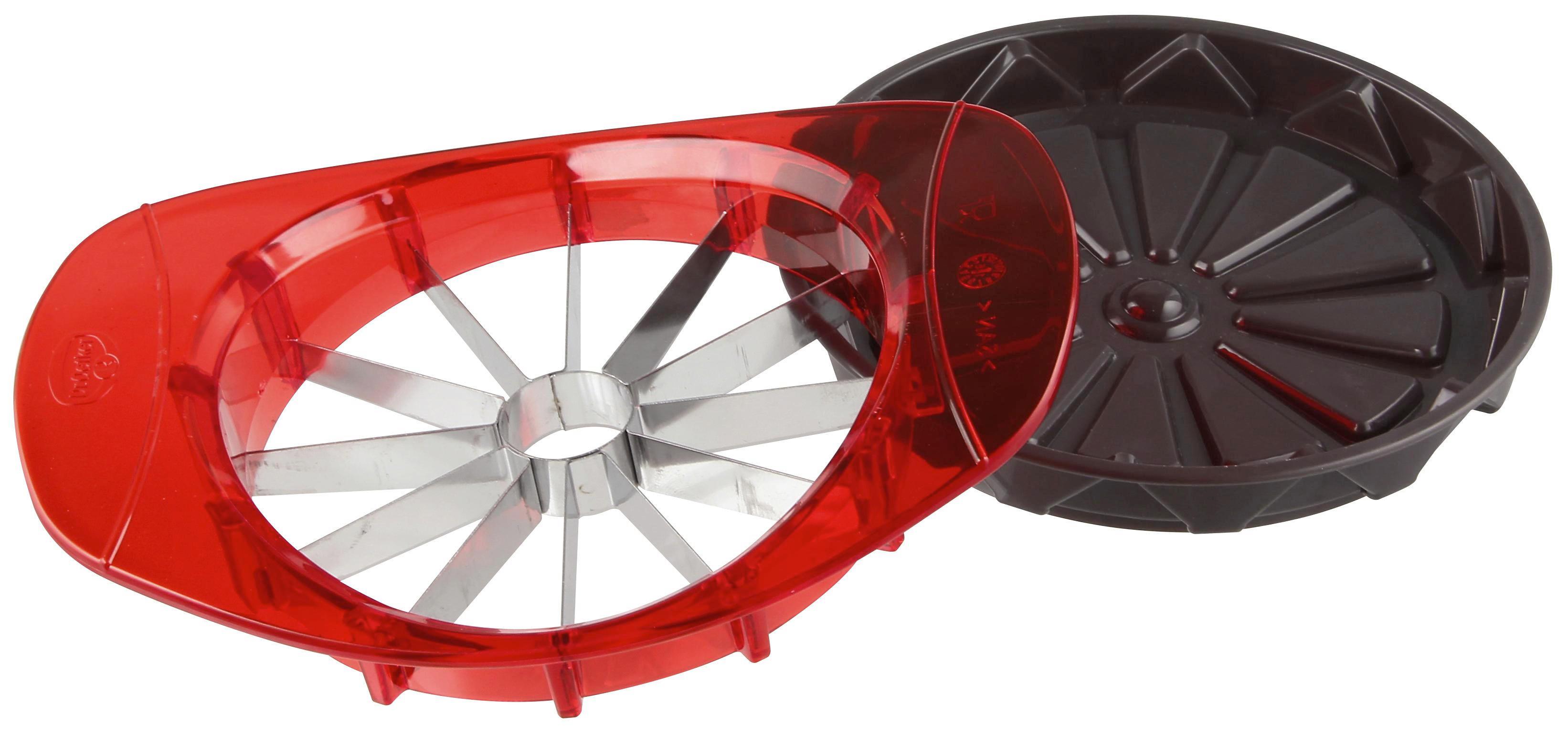 APFELTEILER - Rot/Silberfarben, Kunststoff/Metall (14/18/4cm) - DR.OETKER