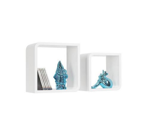 SADA NÁSTĚNNÝCH REGÁLŮ - bílá, Design, kompozitní dřevo (28/23/28/23/15cm) - Boxxx