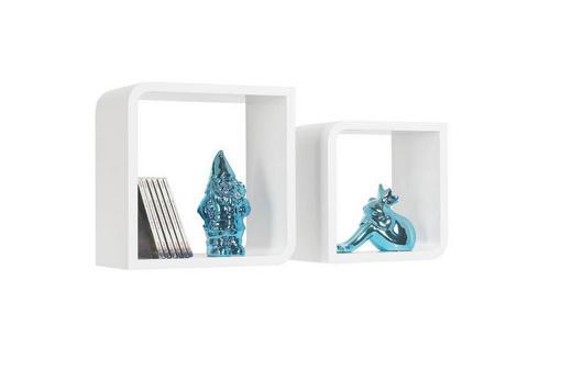 SET ZIDNIH POLICA - bijela, Design, drvni materijal (28/23/28/23/15cm) - Boxxx
