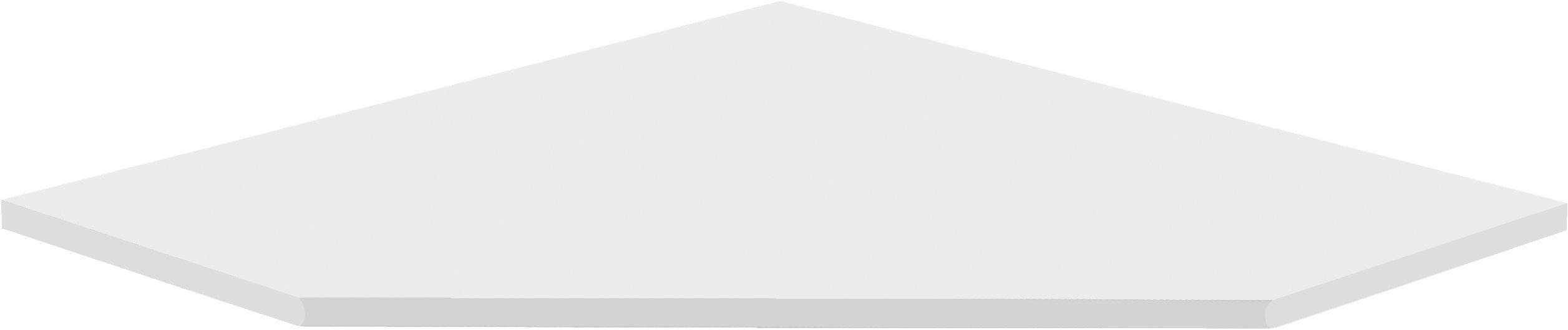 ECKVERBINDUNGSPLATTE - Weiß, KONVENTIONELL, Holzwerkstoff (120/2/85cm) - CS SCHMAL