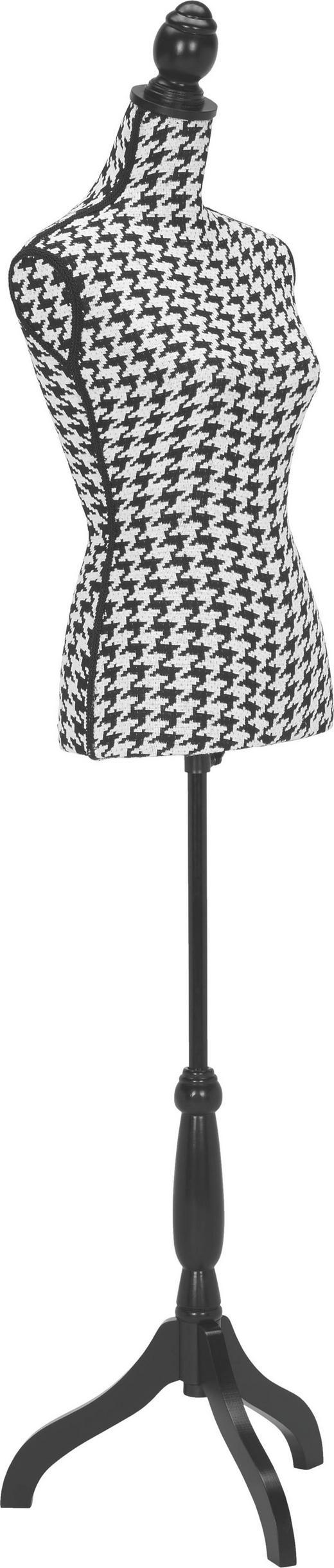 KLEIDERSTÄNDER Schwarz, Weiß - Schwarz/Weiß, MODERN, Textil (24/168/38cm)