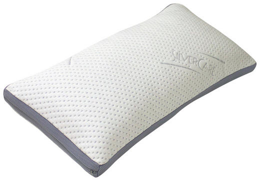 KOPFKISSEN  80/40 cm - Weiß, Basics, Textil (80/40cm) - Carryhome