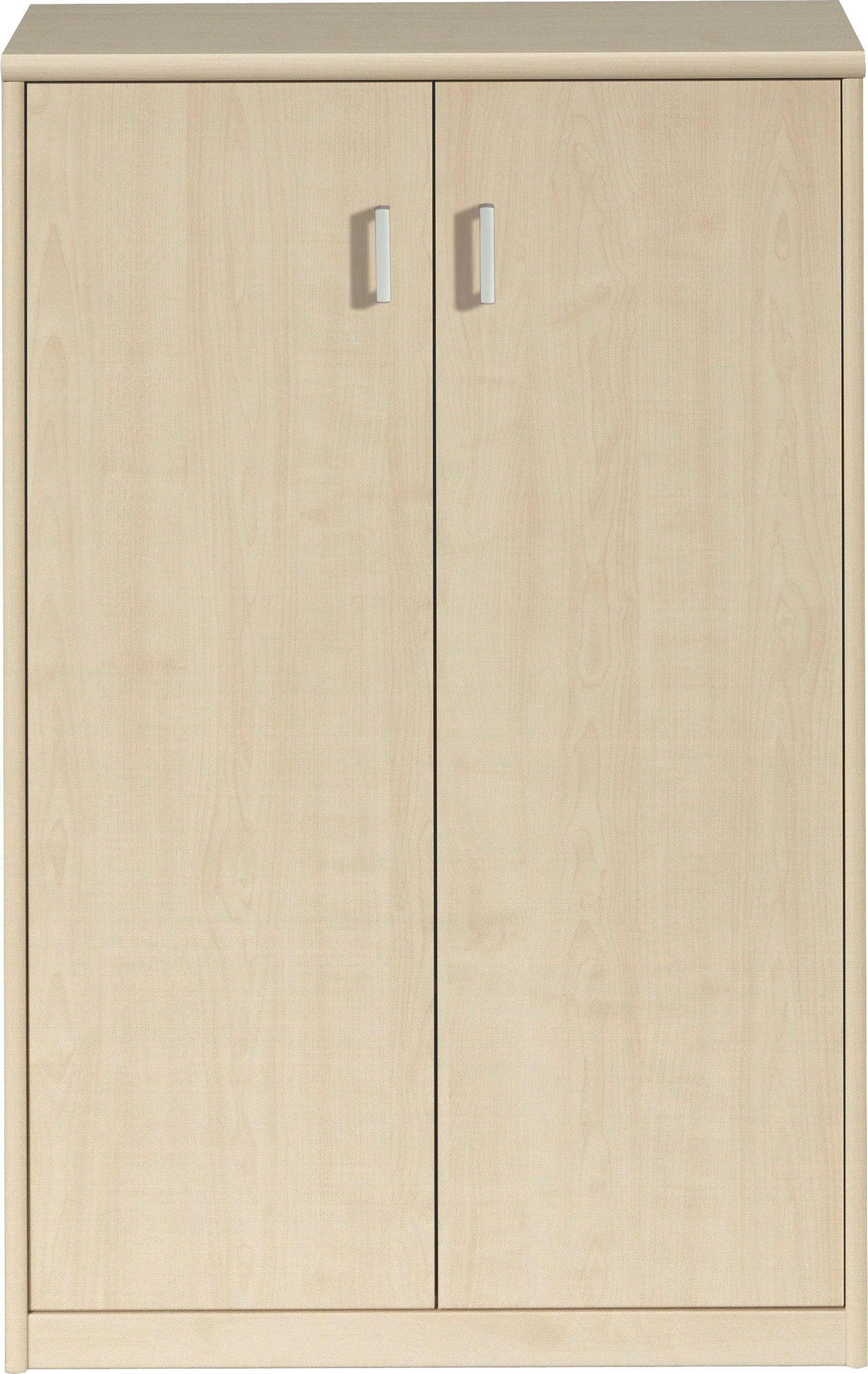 KOMMODE in Ahornfarben - Silberfarben/Ahornfarben, KONVENTIONELL, Holzwerkstoff/Kunststoff (72/110/36cm) - CS SCHMAL