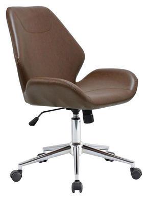 SNURRSTOL - brun/kromfärg, Design, metall/textil (59,5/91-101/62cm) - Hom`in
