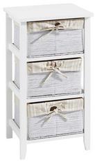 KOMODA, bela, krem - bela/krem, Trendi, papir/leseni material (37/67/30cm) - Carryhome