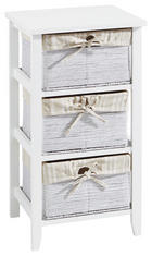 KOMODA - bijela/krem, Lifestyle, papir/drvni materijal (37/67/30cm) - CARRYHOME